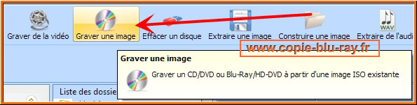 Bouton graver une image ISO Blu-ray
